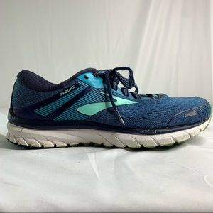 Brooks Womens Adrenaline GTS 18 Blue Running Shoes Lace Up Size 8.5W.